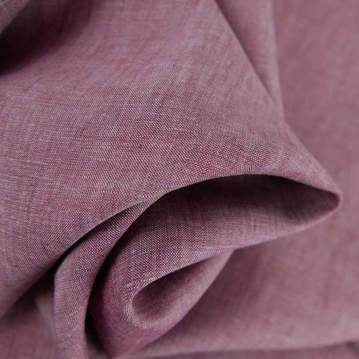Tissu lin chiné haute couture - bruyère x 10cm