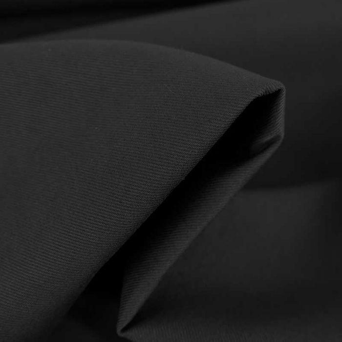 Tissu gabardine sergé haute couture - bleu marine x 10cm