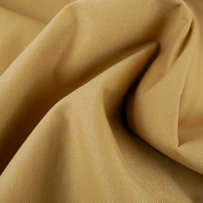 Tissu gabardine sergé haute couture - brun clair x 10cm