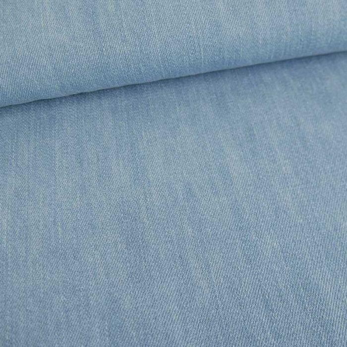 Tissu jean denim haute couture - bleu clair x 10 cm