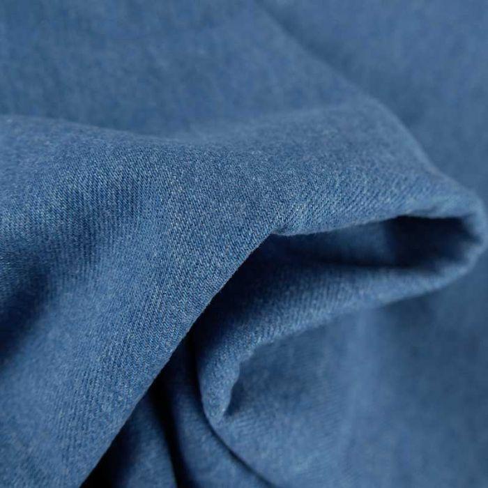 Tissu jean denim haute couture - bleu x 10 cm