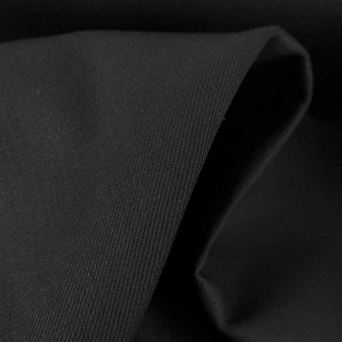 Tissu denim uni haute couture - noir x 10 cm