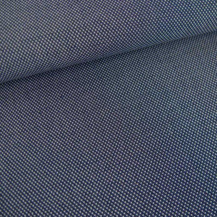 Tissu coton tissé minis cubes haute couture - bleu marine x 10 cm