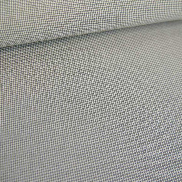 Tissu coton tissé minis pied de poule haute couture - gris x 10 cm