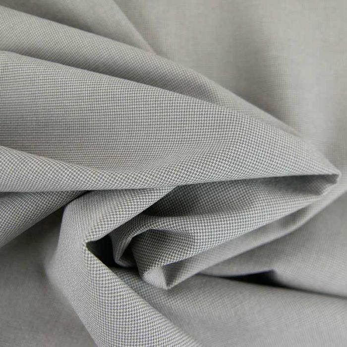 Tissu coton tissé mini pied de poule haute couture - gris x 10 cm