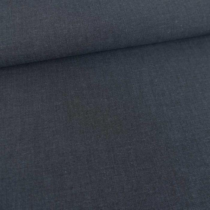 Tissu toile de coton haute couture - bleu denim x 10 cm