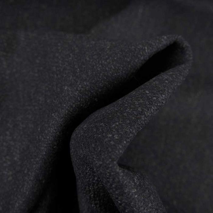 Tissu harris tweed laine haute couture - bleu marine x 10 cm