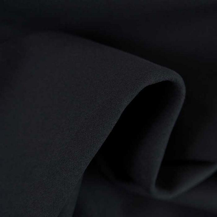 Tissu velours touché suédine haute couture - bleu marine x 10 cm