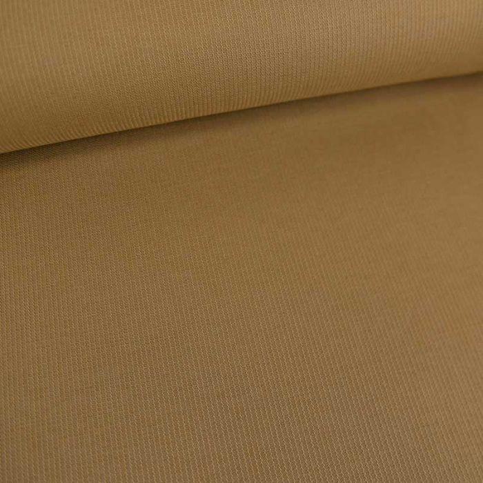 Tissu toile de coton tissée rayures haute couture - brun clair x 10 cm