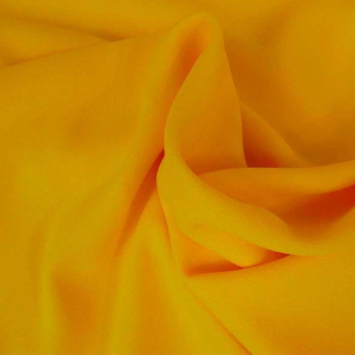 Tissu Crêpe viscose haute couture - jaune x 10 cm