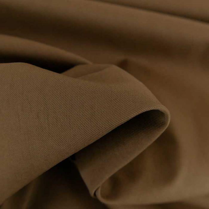 Tissu gabardine sergé haute couture - marron x 10cm