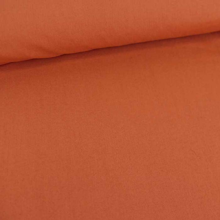 Tissu coton uni haute couture - brique x 10 cm