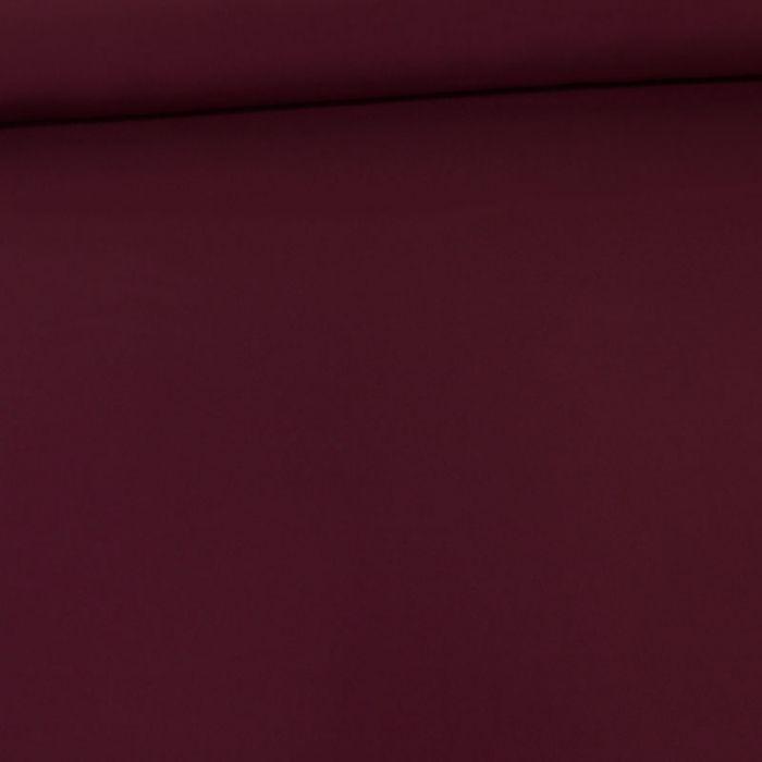 Tissu twill de viscose uni haute couture - bordeaux x 10 cm