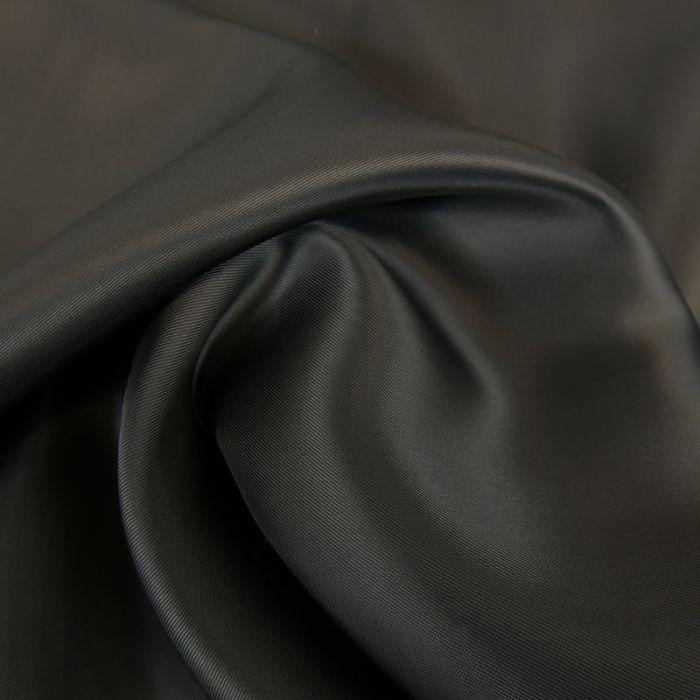 Tissu doublure viscose haute couture - gris foncé x 10 cm