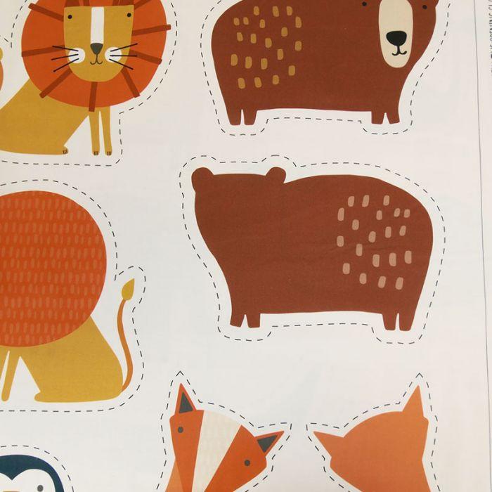 Tissu coton panneaux Habitat animaux - Dashwood x 10 cm