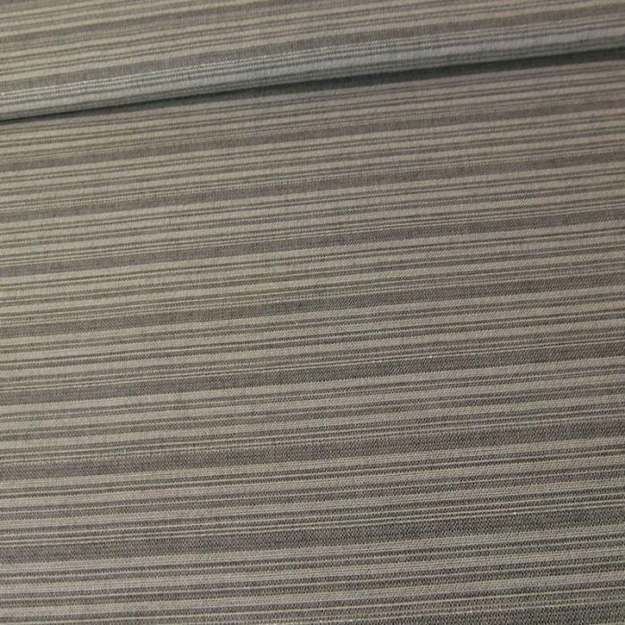 Tissu coton lurex rayures haute couture - gris x 10 cm