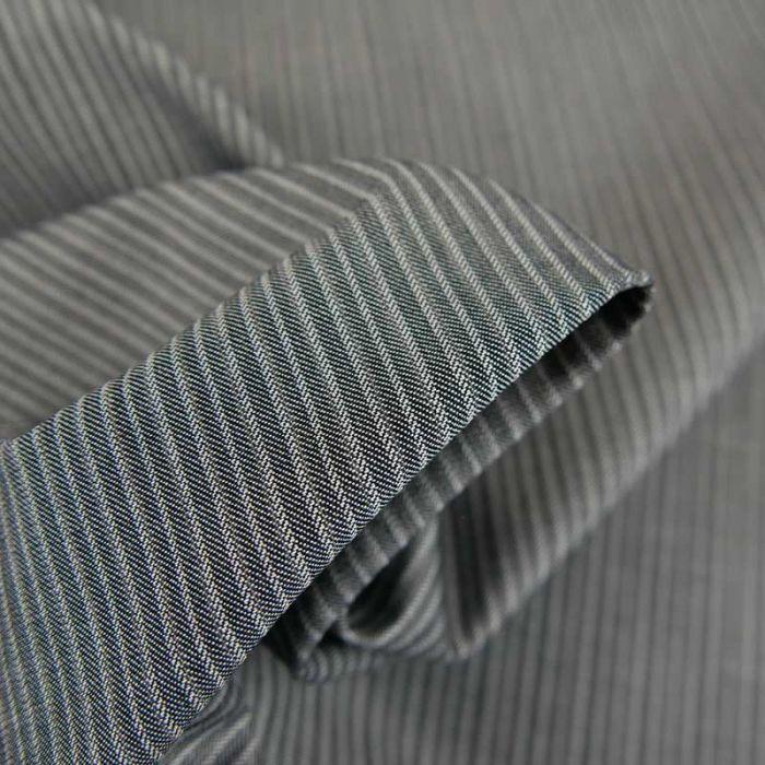 Tissu coton tissé rayures haute couture - gris x 10 cm