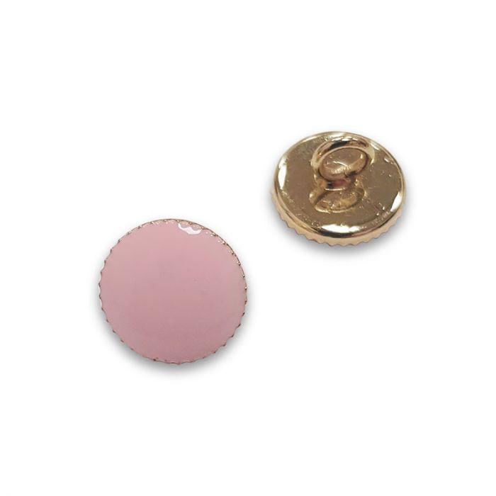 Bouton à pied métal doré - rose x1