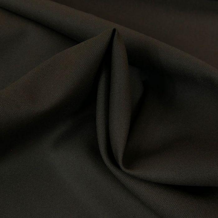 Tissu polycoton stretch uni haute couture - noir x 10 cm