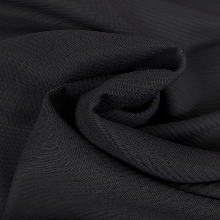 Tissu maille légère rayures haute couture - bleu marine x 10 cm