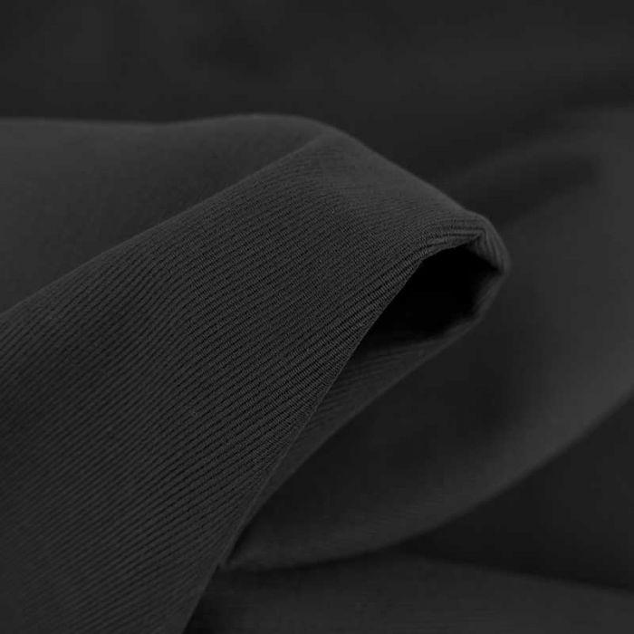 Tissu velours milleraies épais - noir x 10 cm