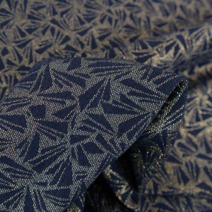 Tissu jacquard Origami Mineral Or - Studio Walkie Talkie x 10 cm