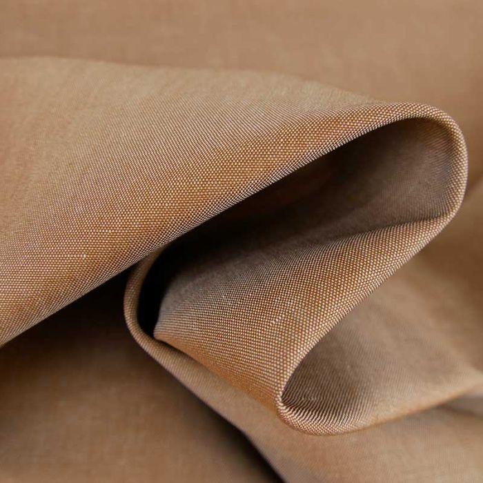 Tissu coton uni - marron cuivre x 10 cm