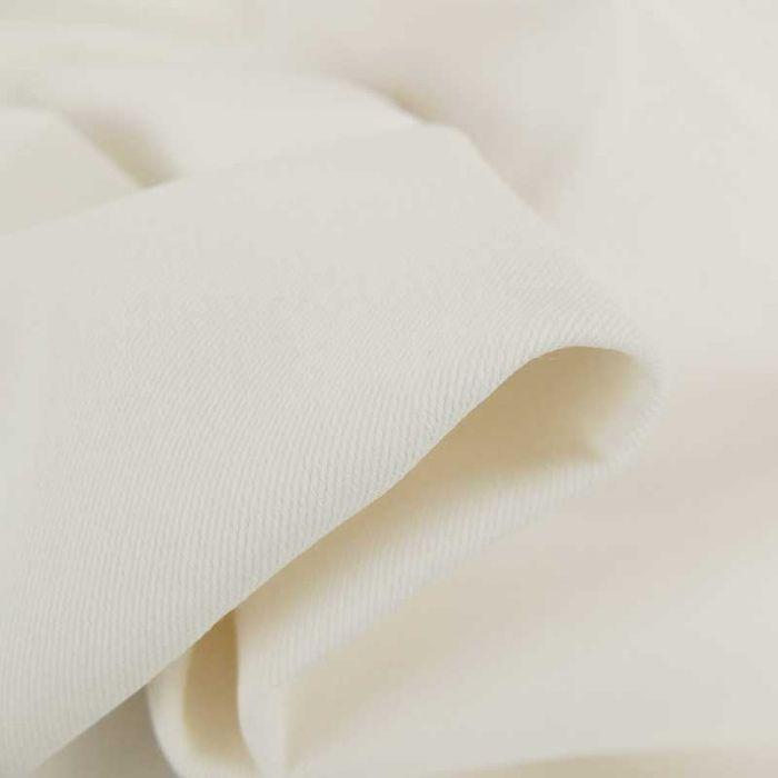 Tissu jean denim - blanc cassé x 10 cm