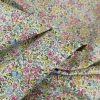 Tissu popeline fleurs aquarelle - violet x 10 cm
