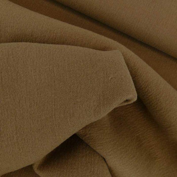 Tissu lainage texturé haute couture - brun vert x 10 cm