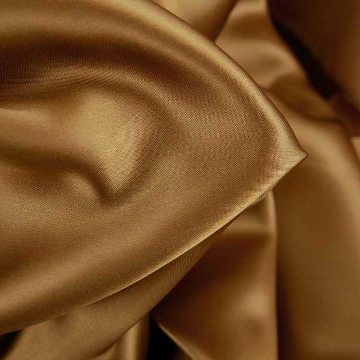 Tissu doublure viscose haute couture - caramel x 10 cm