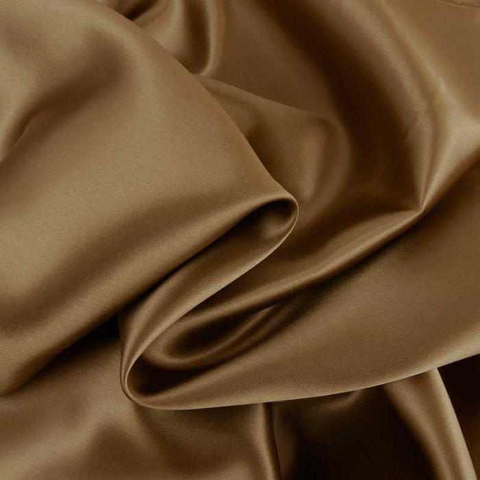 Tissu doublure viscose haute couture - marron x 10 cm