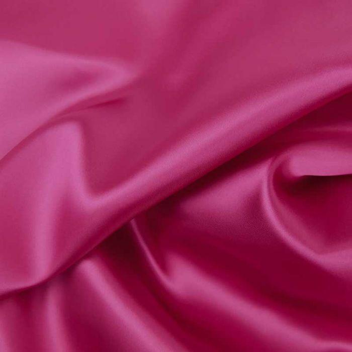 Tissu doublure viscose haute couture - rose fuchsia x 10 cm