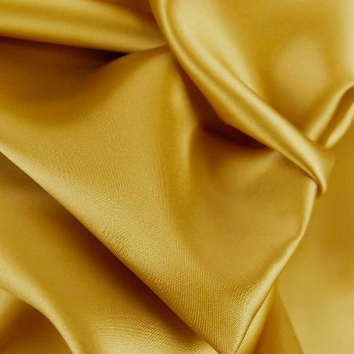 Tissu doublure viscose haute couture - jaune ocre x 10 cm
