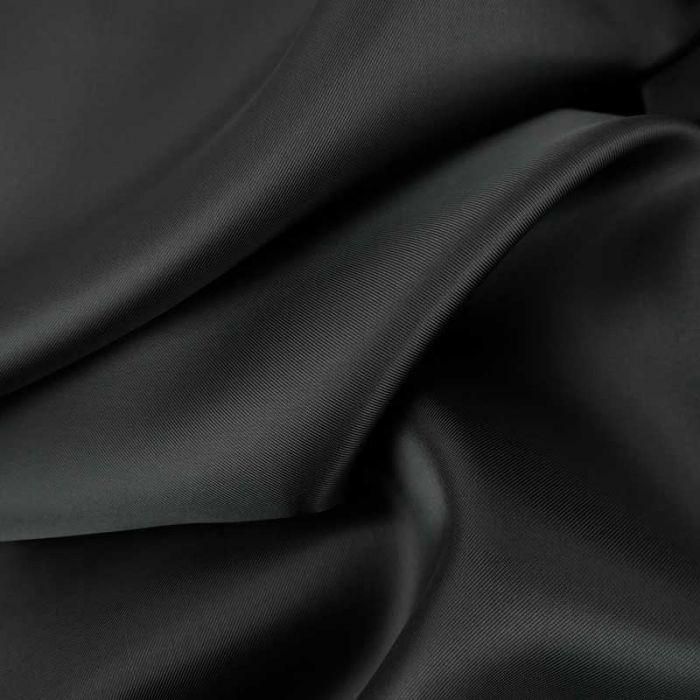 Tissu doublure viscose haute couture - gris anthracite x 10 cm