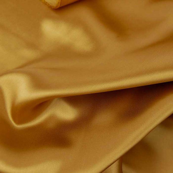 Tissu doublure viscose haute couture - marron ocre x 10 cm
