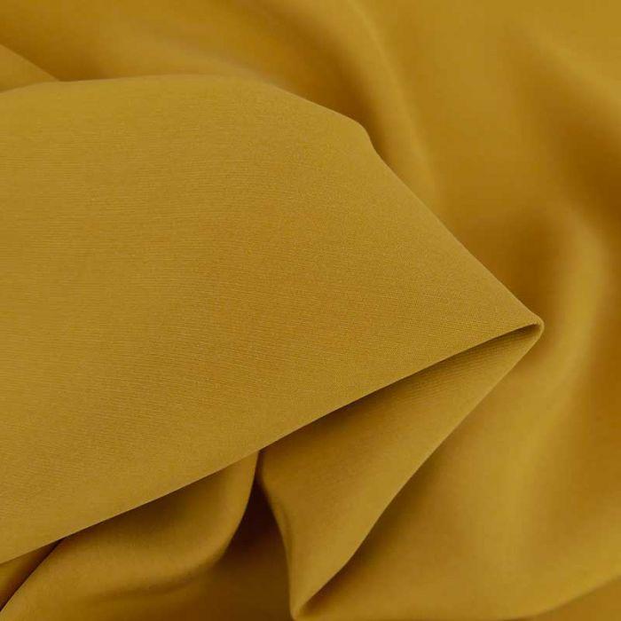 Tissu cupro viscose haute couture - jaune ocre x 10 cm
