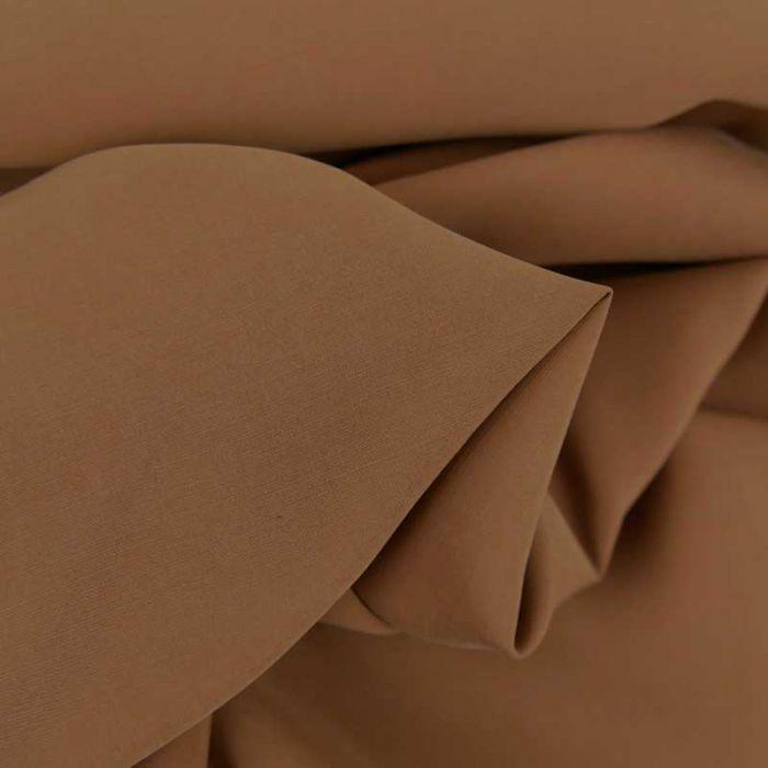 Tissu cupro viscose haute couture - noisette x 10 cm