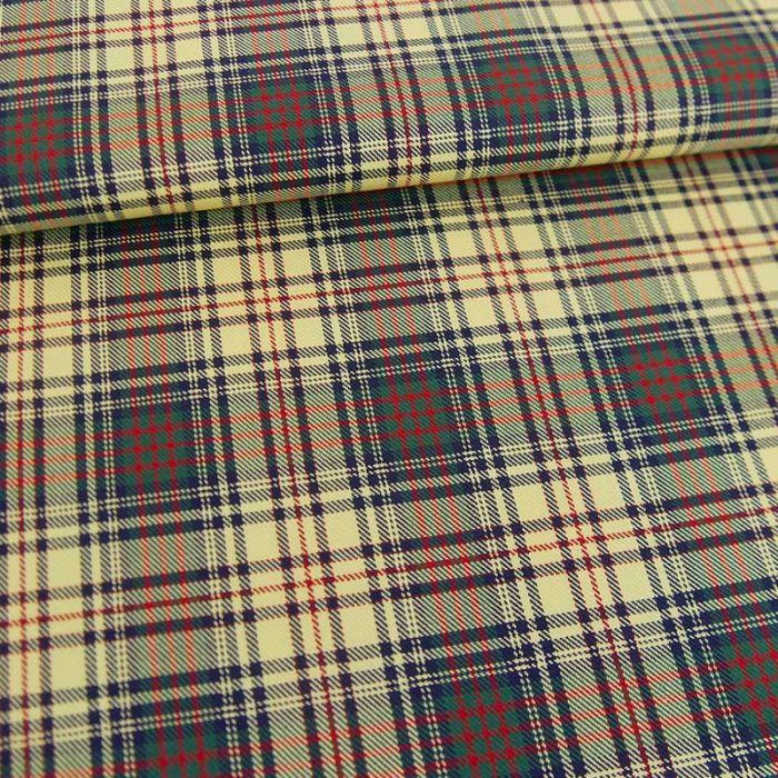 Tissu coton fin carreaux haute couture - jaune pâle x 10 cm