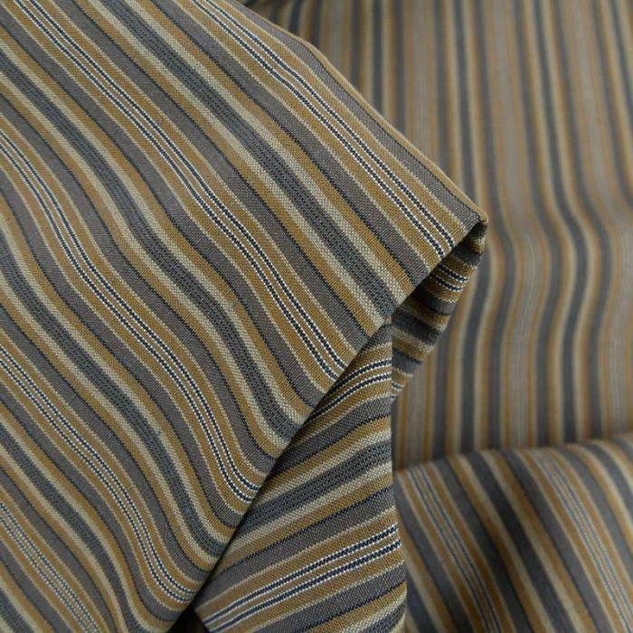 Tissu coton fin rayures haute couture - gris x 10 cm