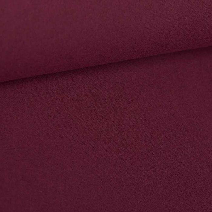 Tissu drap de laine haute couture - bordeaux x 10 cm