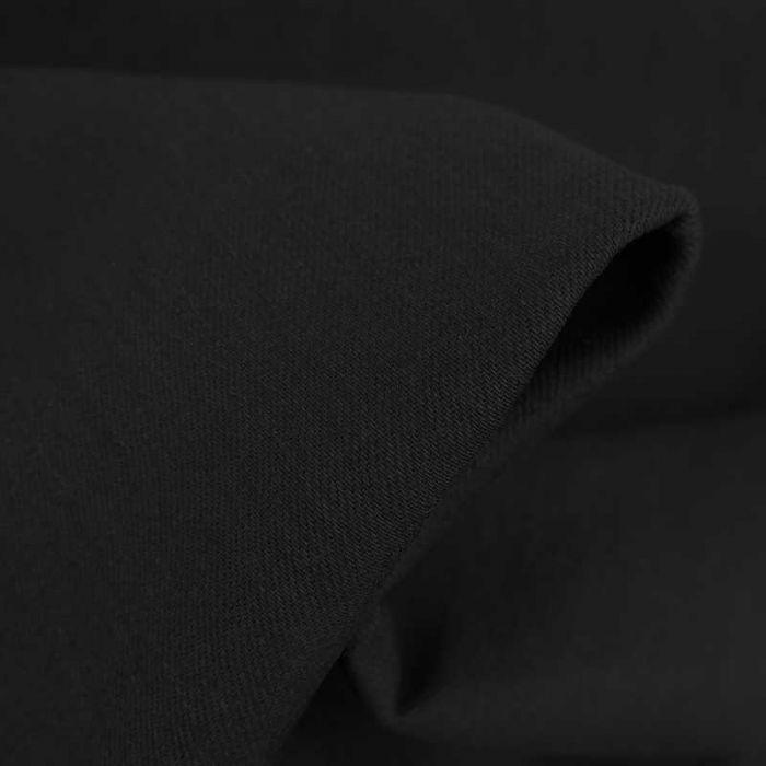 Tissu denim stretch uni haute couture - noir x 10 cm
