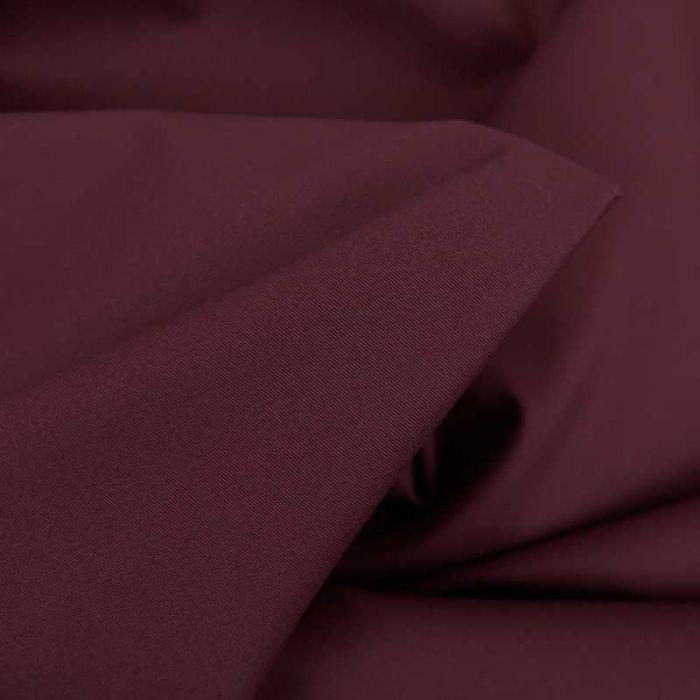 Tissu coton chino stretch - bordeaux x 10cm