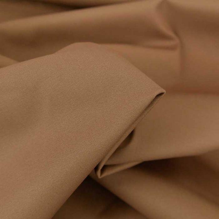 Tissu coton chino stretch - noisette x 10cm