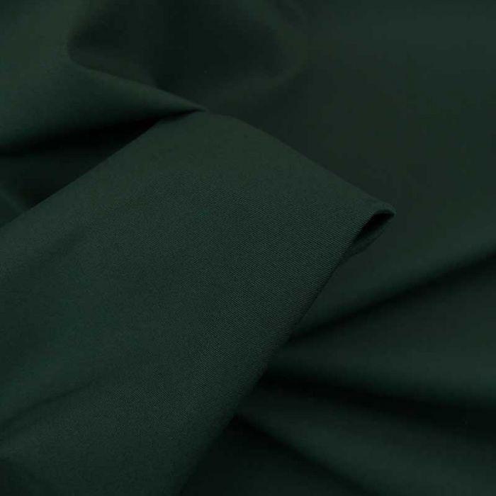 Tissu coton chino stretch - vert foncé x 10cm