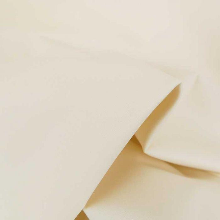 Tissu coton chino stretch - écru x 10cm