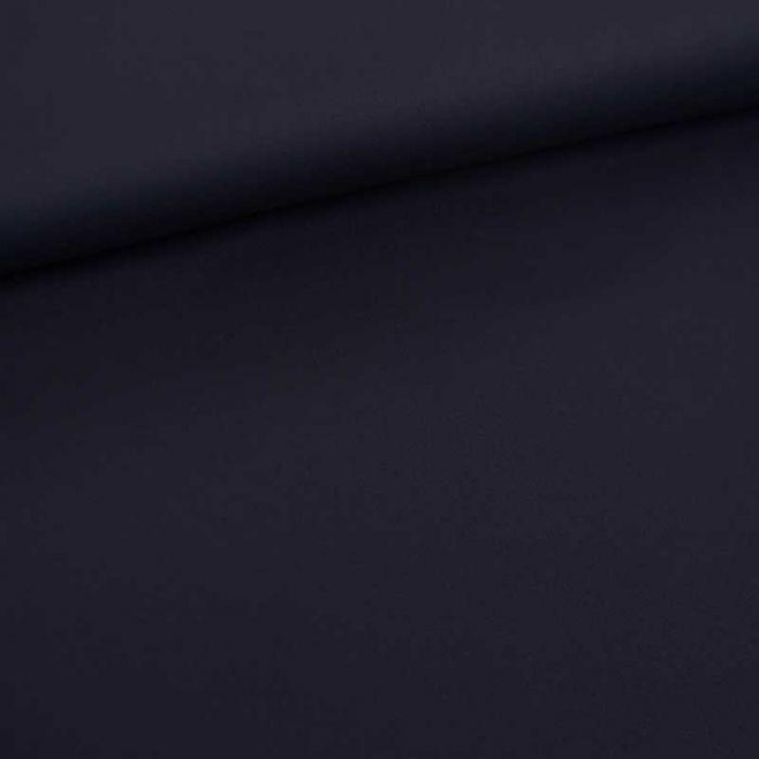 Tissu coton chino stretch - bleu marine x 10cm
