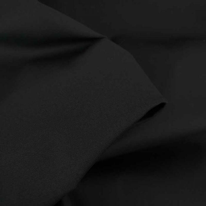 Tissu coton chino stretch - noir x 10cm