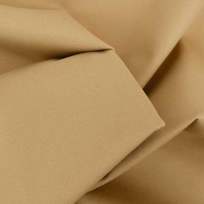 Tissu coton chino stretch - beige foncé x 10cm