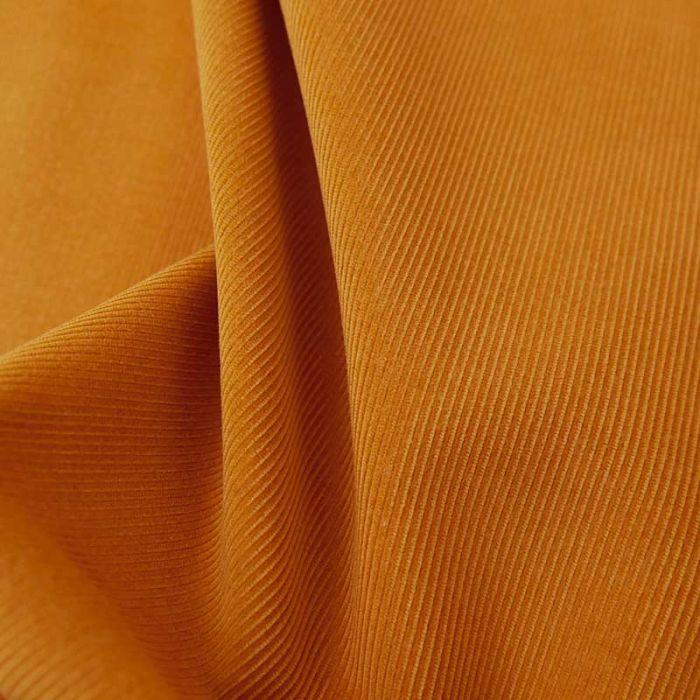Tissu velours milleraies fin haute couture - orange x 10 cm